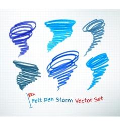 Hurricane symbols vector