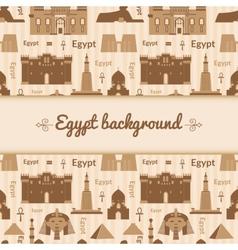 Landmarks of Egypt background vector image