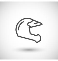 Motocross motorcycle helmet line icon vector image