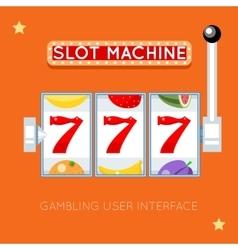 Online slot machine gambling user vector image