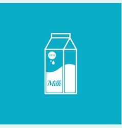Paper bag with milk vector