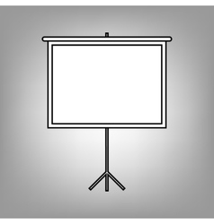 Projection screen icon vector image