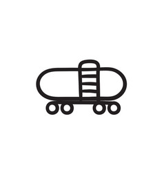 Railway cistern sketch icon vector