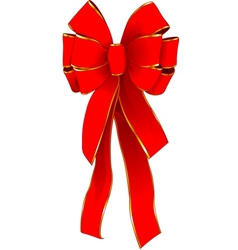 red christmas bow vector image