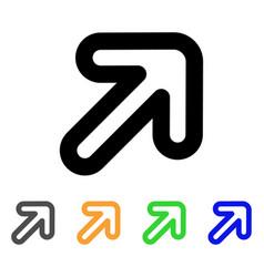 right-up arrow stroke icon vector image