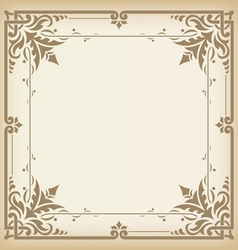 Seamless vintage border vector image vector image
