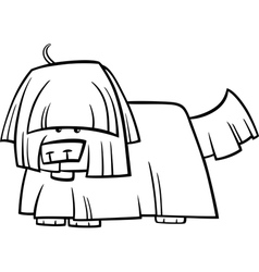 Shaggy dog cartoon coloring page vector