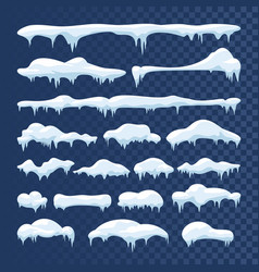 snow and ice frames winter cartoon snow vector image