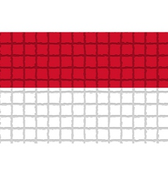 The mosaic flag of Indonesia vector image vector image