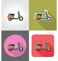 transport flat icons 53 vector image