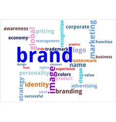 Word cloud brand vector
