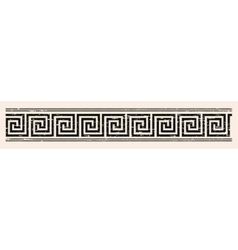 Greek style seamless ornament with aging effect vector