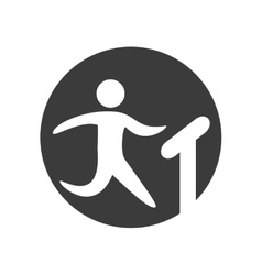 Human silhouette exercising icon vector