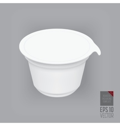 Yogurt container isolated vector