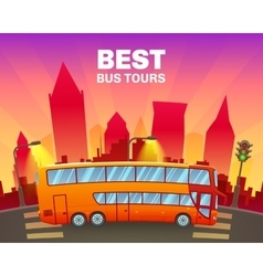 Colorful Travel Poster vector image