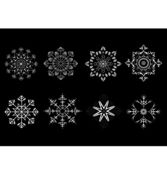 Options snowflakes ornaments vector