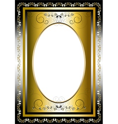 Frame with gold and silver items vector