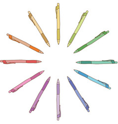 Colour pen vector