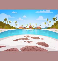 sea shore beach with villa hotel beautiful seaside vector image