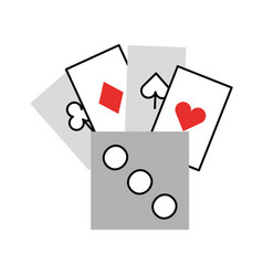 Poker card with dice vector