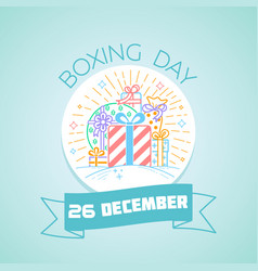 26 december boxing day vector
