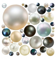 Coloured pearls vector