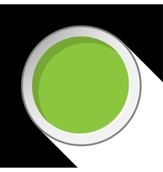 Green circle with stylized shadow vector
