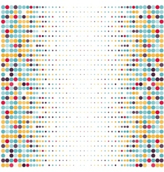 Background with the colored dotted circles in a vector