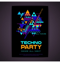 Disco poster abstract triangle background vector