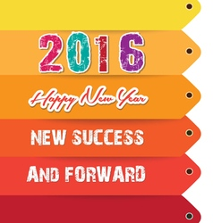 Happy new year 2016 text design new success vector