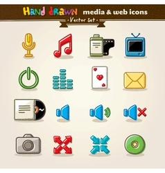 Hand Drawn Media vector image