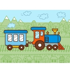 Cartoon train vector