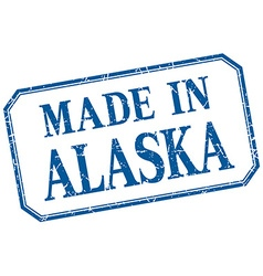 Alaska - made in blue vintage isolated label vector