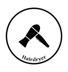 Hairdryer icon vector