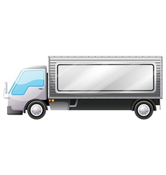 A delivery truck with an empty signboard vector image