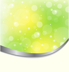 Abstract eco background light green vector image vector image
