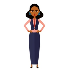 African upset banker girl cartoon vector