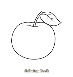 Apple coloring book vector