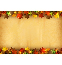background autumn old paper vector image vector image