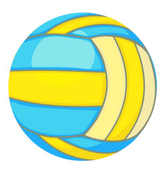 Ball for volleyball icon cartoon style vector