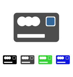 Banking card flat icon vector