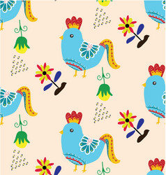 bird pattern vector image vector image