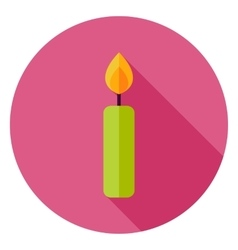 Candle circle icon vector