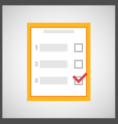 Checklist survey icon vector