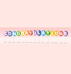 Congratulations card template with colorful vector