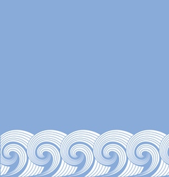 Decorative background of waves vector