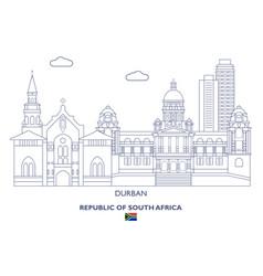 durban city skyline vector image