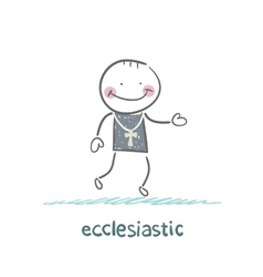 Ecclesiastic going to church vector