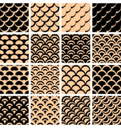fish scales pattern vector image vector image