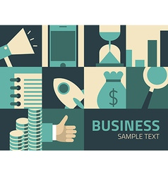 Flat design Business concept Businessman vector image